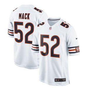 NEW NFL Men's 52# Khalil Mack Nike White jersey